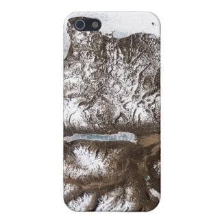 Sea ice lines the shoreline in eastern Greenlan iPhone 5 Cases
