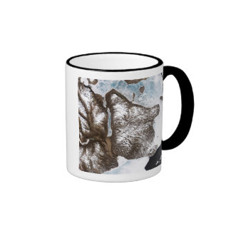 Sea ice lines the shoreline in eastern Greenlan Ringer Coffee Mug