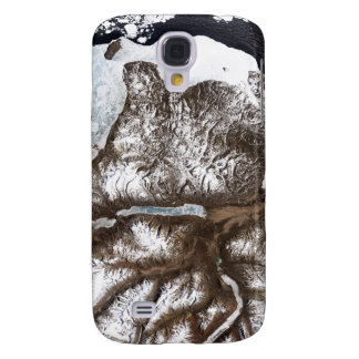 Sea ice lines the shoreline in eastern Greenlan Samsung Galaxy S4 Case