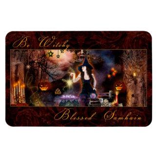 Sea imán bendecido Witchy de la bruja de Samhain