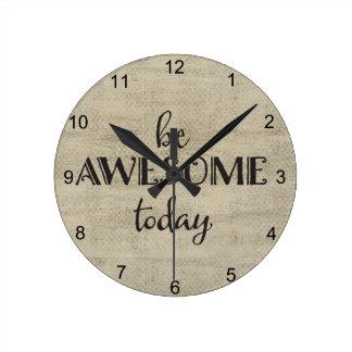 Sea impresionante hoy reloj redondo mediano