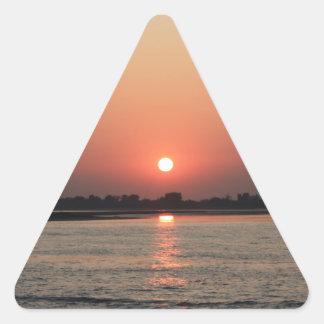 Sea in Venice Triangle Sticker