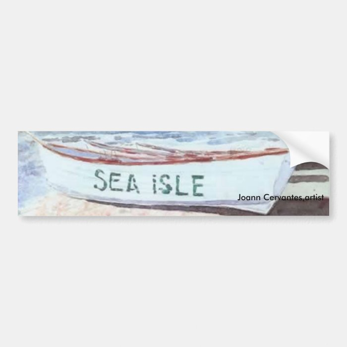 SEA ISLE BUMPER STICKER WATERCOLOR