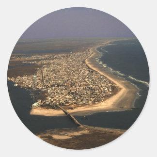 Sea Isle City Aerial Classic Round Sticker