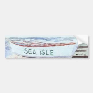 Sea Isle City Lifeguard Boat Car Bumper Sticker