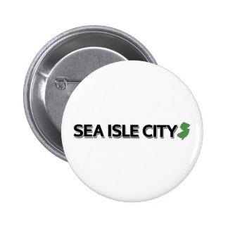 Sea Isle City New Jersey Pinback Button