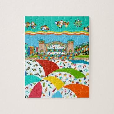 Beach Themed Sea Isle City, New Jersey Jigsaw Puzzle
