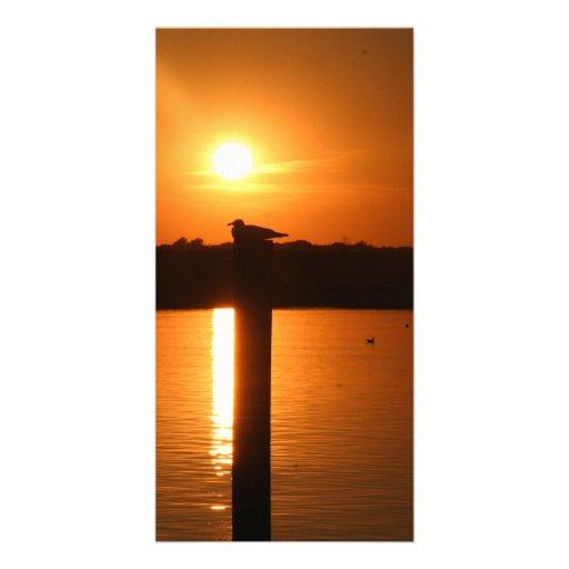 Sea Isle City Sunset Customized Photo Card
