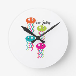 Sea Jellies Round Wall Clock