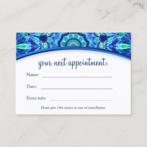Sea Jewel Mandala Appointment Card