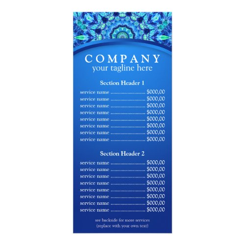 Sea Jewel mandala price list menu