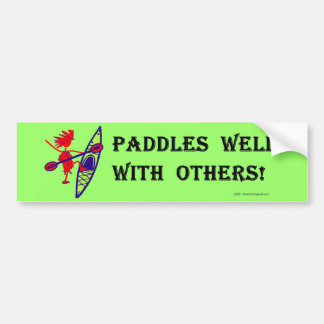 Sea Kayak Paddles Well White Bumper Sticker