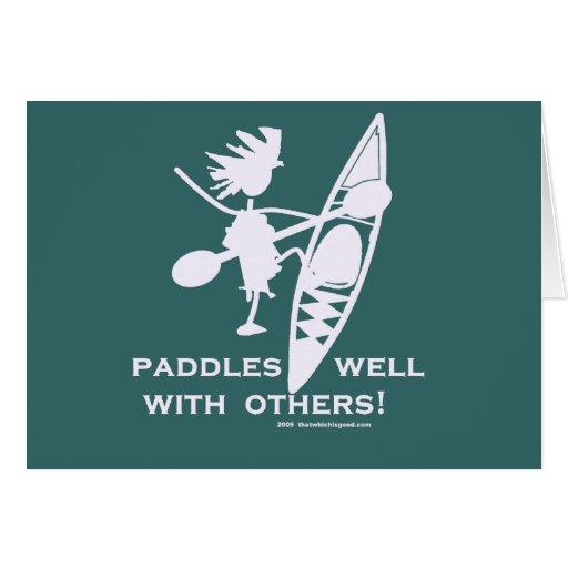 Sea Kayak Paddles Well White Card