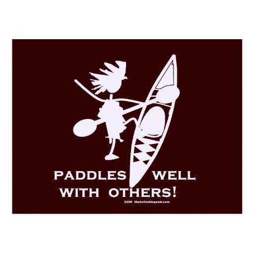 Sea Kayak Paddles Well White Post Cards