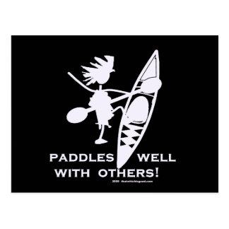 Sea Kayak Paddles Well White Postcard