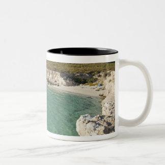 Sea kayaker on the Gulf of California at Isla Two-Tone Coffee Mug