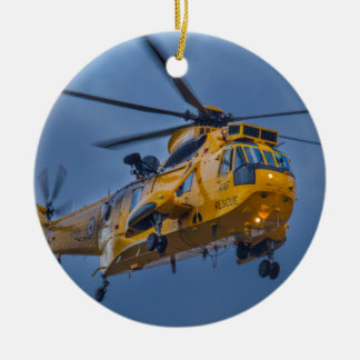 Sea King Rescue Helicopter Ceramic Ornament
