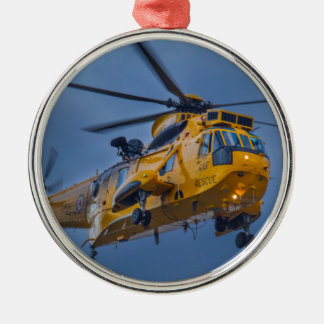 Sea King Rescue Helicopter Metal Ornament