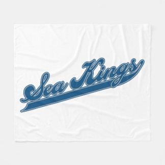 Sea Kings Script Fleece Blanket
