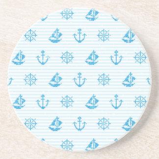 Sea Knitting #2 Sandstone Coaster