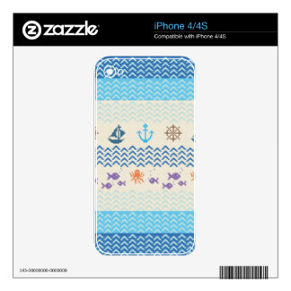 Sea Knitting iPhone 4S Skin
