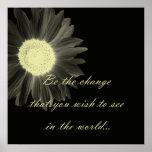 Sea la cita de Gandhi del cambio Poster
