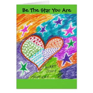 Sea la estrella que usted es tarjeta de felicitación