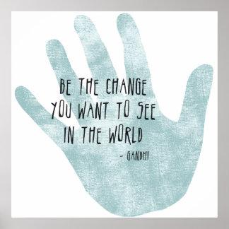 Sea la mano del cambio impresiones