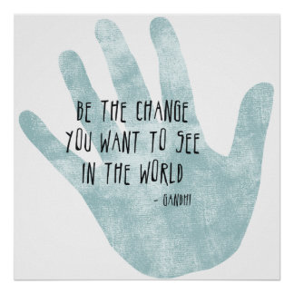 Sea la mano del cambio póster