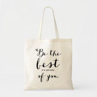 Sea la mejor versión de usted la bolsa de asas