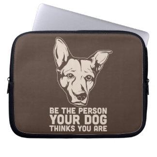 sea la persona que su perro piensa que usted es fundas computadoras