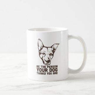 sea la persona que su perro piensa que usted es taza