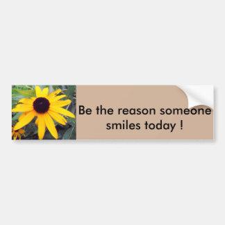 """""""Sea la razón que sonríe alguien hoy"""" Sticke de Pegatina Para Auto"""