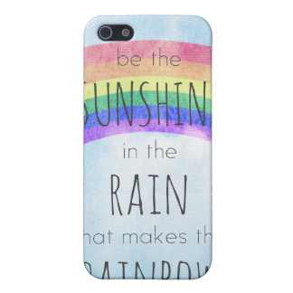 Sea la sol en la lluvia iPhone 5 carcasa