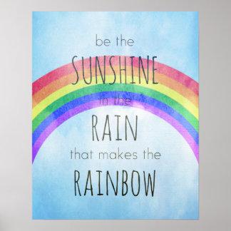 Sea la sol en la lluvia impresiones