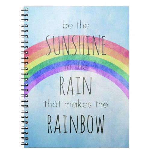 Sea la sol en la lluvia libro de apuntes