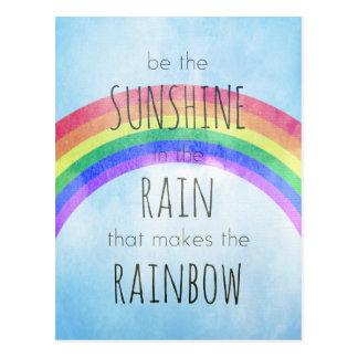 Sea la sol en la lluvia postal