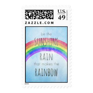 Sea la sol en la lluvia sello
