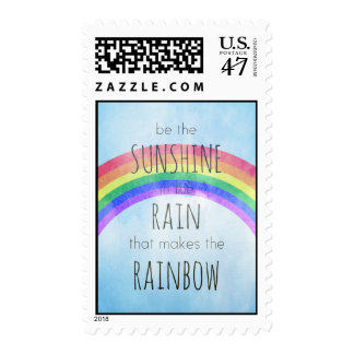 Sea la sol en la lluvia sellos