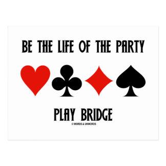 Sea la vida del puente del juego del fiesta (los postal