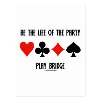 Sea la vida del puente del juego del fiesta (los tarjeta postal