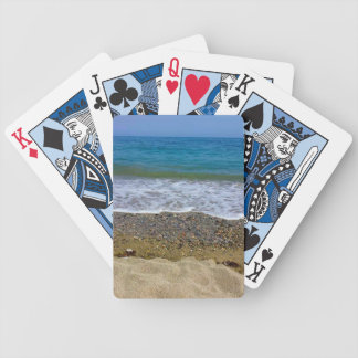 Sea landscape bicycle playing cards