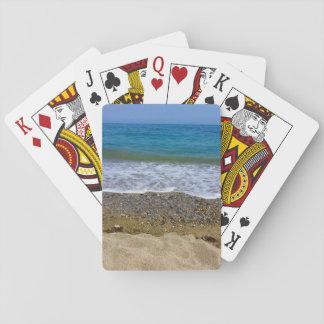 Sea landscape poker cards