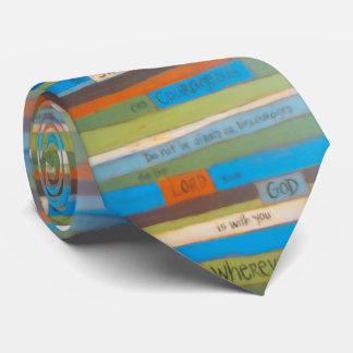 Sea lazo fuerte y valeroso corbatas personalizadas