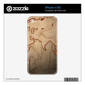 Sea Level Map Decal For iPhone 4