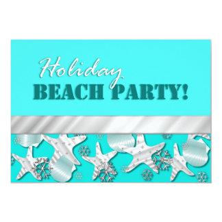 Sea Life and Snowflakes Holiday Party Invitation