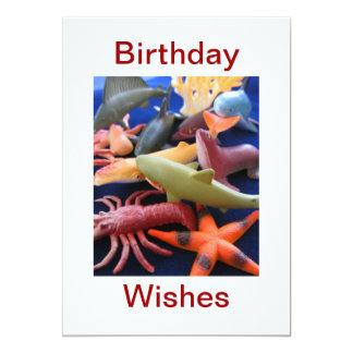 Sea Life Animals Birthday Card