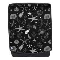 Sea Life Black Pattern Backpack