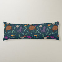 Sea Life Decorative Body Pillow