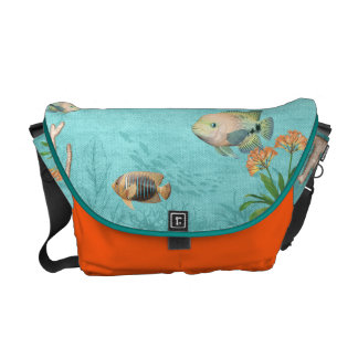 sea life fish messenger bag custom